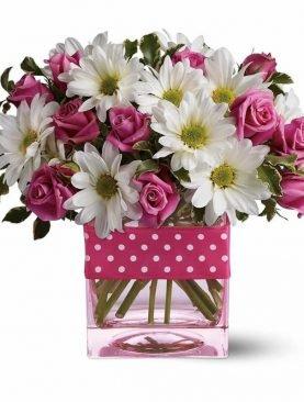 Pink Roses & Gerberas