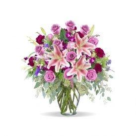 Sunshine Pink Roses proflowers.pk