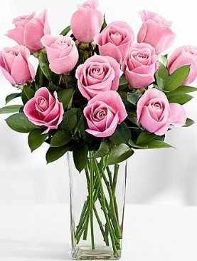 Long Stemmed Pink Bash Roses