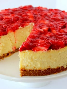 Delicious Strawberry Cheescake
