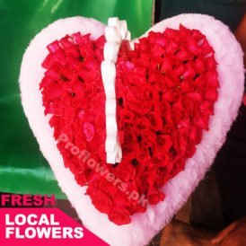 Elegant Red Roses Heart | Online Flowers Delivery for Pakistan