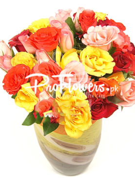 48 Mix Local Red Roses