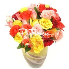 48 Mix Local Red Roses. Online Flowers & Cake Delivery Services in Lahore, Islamabad, Karachi, Multan, and Rawalpindi.