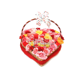 You Are My Heart Beat | 48 Flowers in Heart Shaped Basket | ProFlowers.pk