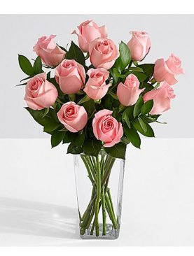 Ten Long Stemmed Pink Roses