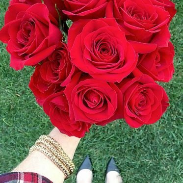 One Dozen Long Stemmed Red Roses - Valentine Day Flowers - Birthday Flowers