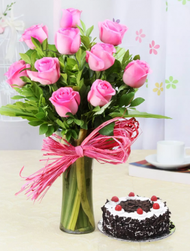Pink Roses With Sweetness Affairs