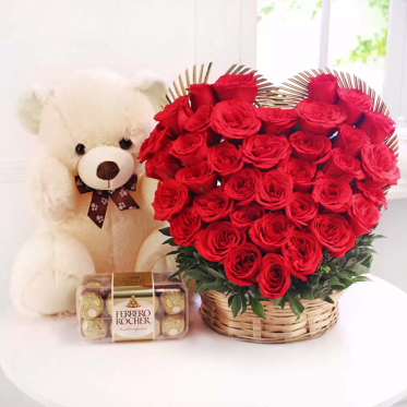 Love Combo - Send Flowers Cakes & teddy Online - Proflowers.pk