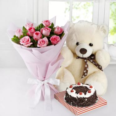 Strings of Love - Send Flowers Cakes & Teddy Combo Online - Proflowers.pk