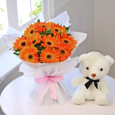 Unconditional Pure Love - Send Flowers Cakes Teddy Combo Online - Proflowers.pk