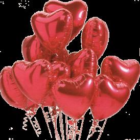 Heart Helium Balloons | Valentines Day Balloons | Birthday Balloons