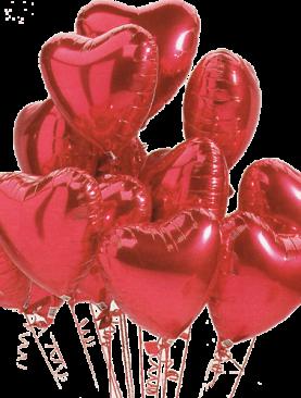 Dozen Hearts Helium Balloons