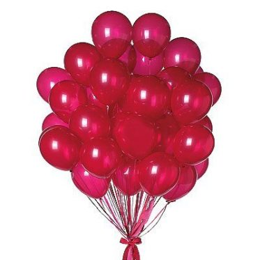 red party balloons - theme balloons
