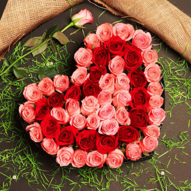 Hearty Sensation - Heart Shape Arrangement Online - Proflowers.pk