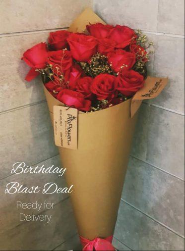 12 Birthday Roses - ProFlowers.pk