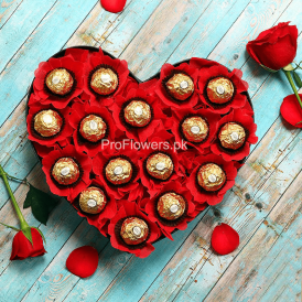 Send Chocolate to Lahore - HHearty Ferrero - ProFlowers.pk