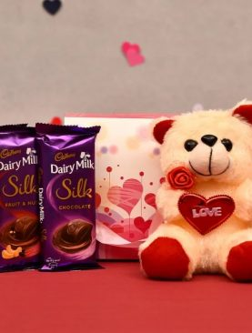 Teddy Bear with Cadbury Chocolates