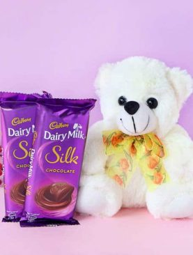 Teddy Bear with Cadbury Dairy Milk