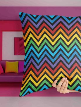 Colorful Chevron Pattern Pillow