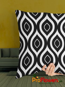 Black & White Pattern Pillow