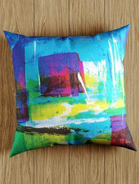 Paint Artwork Green Blue Pillow