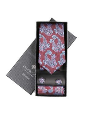 BOX TIE SET – CHARCOAL