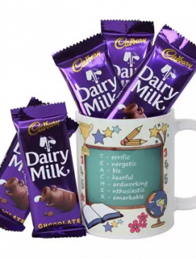 MUGS WITH CHOCLATE