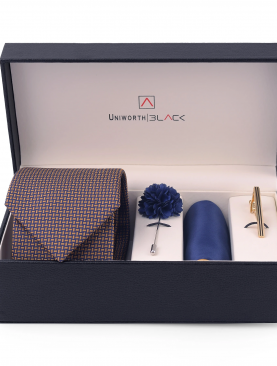 NAVY BLUE AND BROWN MEN 'S GIFT BOX – UNIWORTH