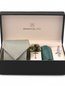 LIGHT GREEN SMALL CHECK MEN 'S GIFT BOX – UNIWORTH