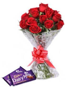 Cadbury With Red Roses