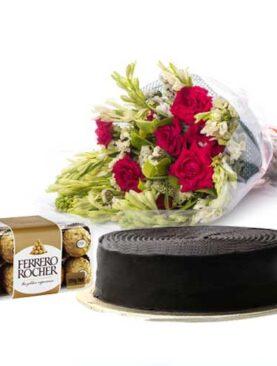Cake Chocolate And Flowers